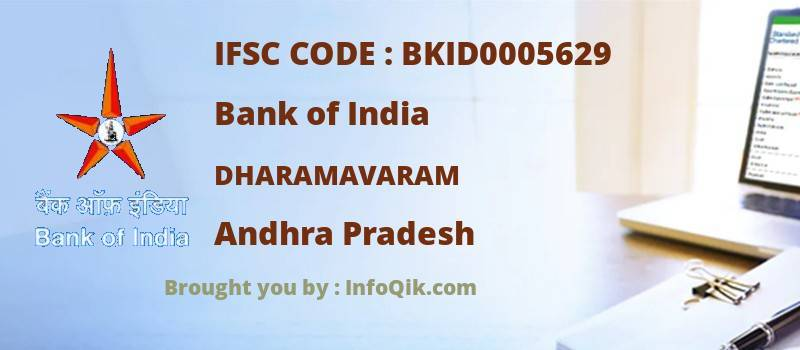 Bank of India Dharamavaram, Andhra Pradesh - IFSC Code