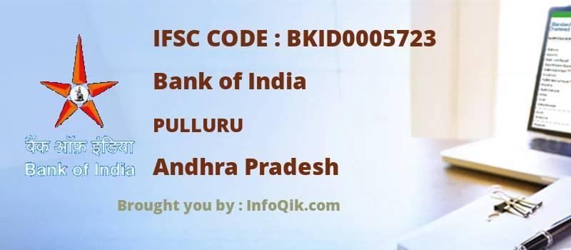 Bank of India Pulluru, Andhra Pradesh - IFSC Code