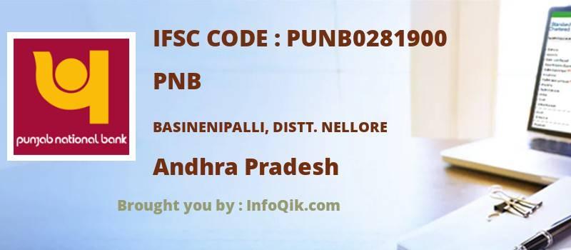 PNB Basinenipalli, Distt. Nellore, Andhra Pradesh - IFSC Code
