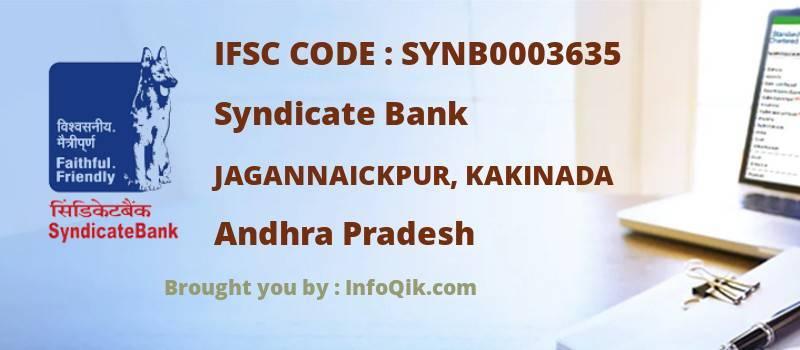 Syndicate Bank Jagannaickpur, Kakinada, Andhra Pradesh - IFSC Code