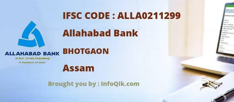 Allahabad Bank Bhotgaon, Assam - IFSC Code