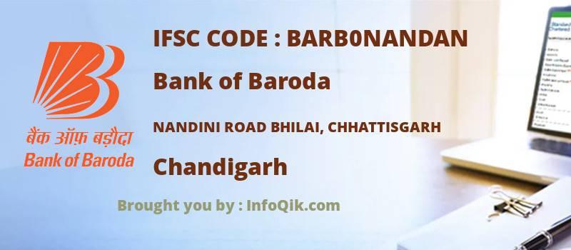 Bank of Baroda Nandini Road Bhilai, Chhattisgarh, Chandigarh - IFSC Code