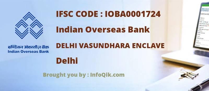 Indian Overseas Bank Delhi Vasundhara Enclave, Delhi - IFSC Code