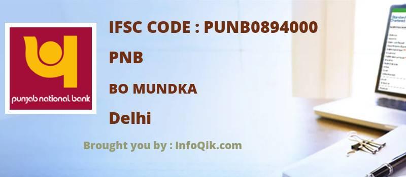 PNB Bo Mundka, Delhi - IFSC Code
