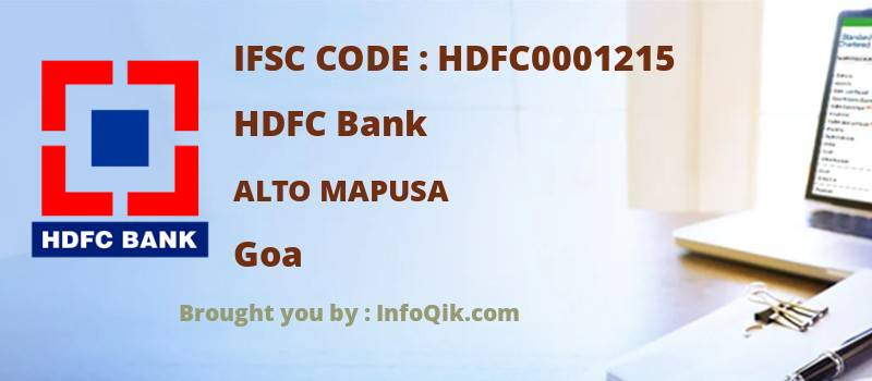 HDFC Bank Alto Mapusa, Goa - IFSC Code