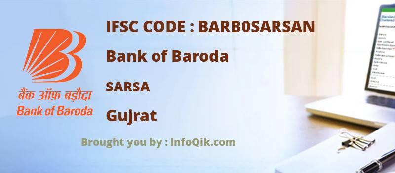 Bank of Baroda Sarsa, Gujrat - IFSC Code