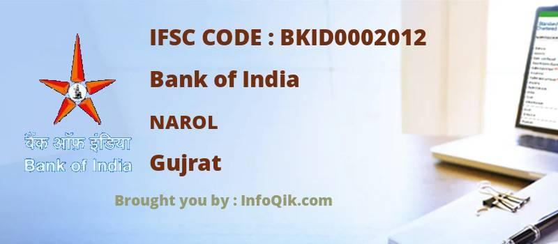 Bank of India Narol, Gujrat - IFSC Code