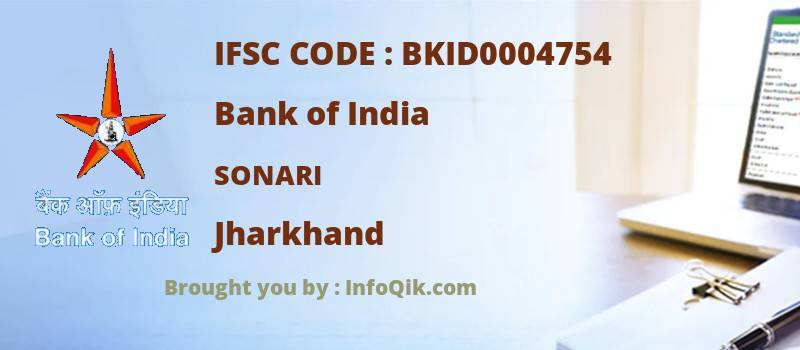 Bank of India Sonari, Jharkhand - IFSC Code