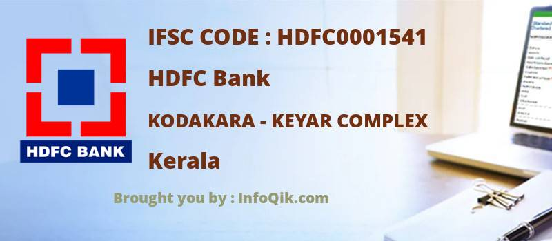 HDFC Bank Kodakara - Keyar Complex, Kerala - IFSC Code