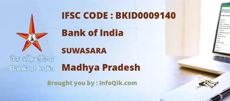 Bank of India Suwasara, Madhya Pradesh - IFSC Code