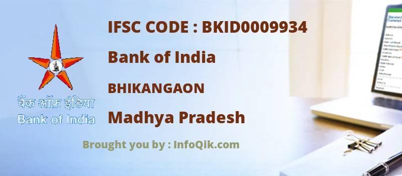 Bank of India Bhikangaon, Madhya Pradesh - IFSC Code