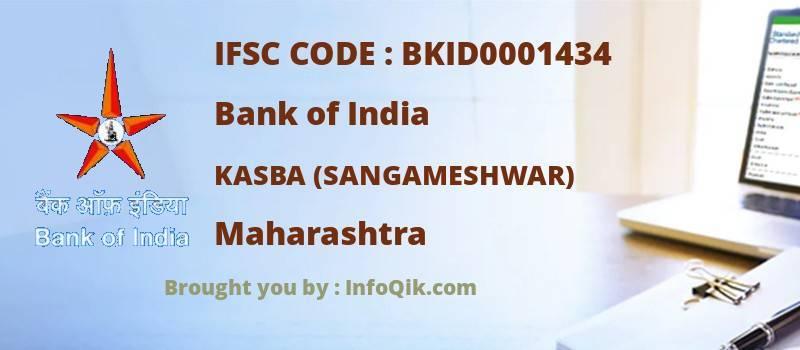 Bank of India Kasba (sangameshwar), Maharashtra - IFSC Code