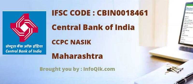 Central Bank of India Ccpc Nasik, Maharashtra - IFSC Code