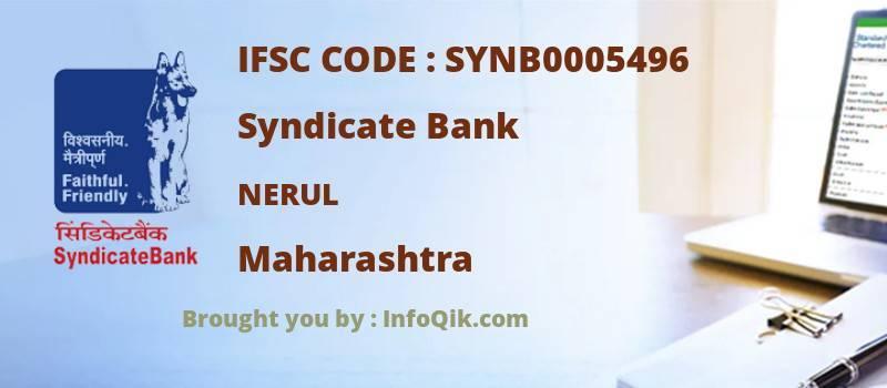Syndicate Bank Nerul, Maharashtra - IFSC Code