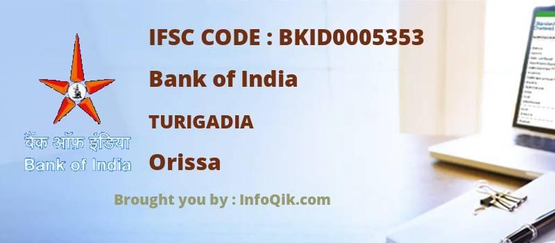 Bank of India Turigadia, Orissa - IFSC Code