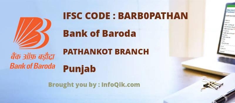 Bank of Baroda Pathankot Branch, Punjab - IFSC Code