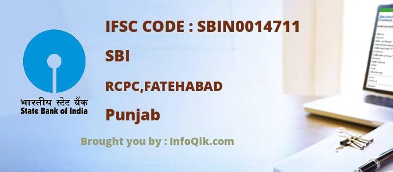 SBI Rcpc,fatehabad, Punjab - IFSC Code