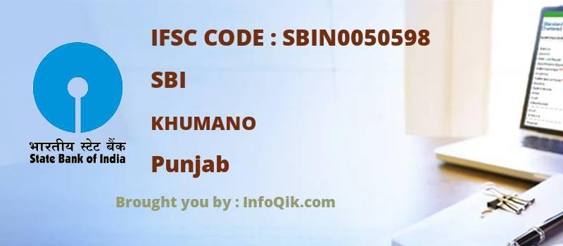 SBI Khumano, Punjab - IFSC Code