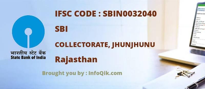 SBI Collectorate, Jhunjhunu, Rajasthan - IFSC Code