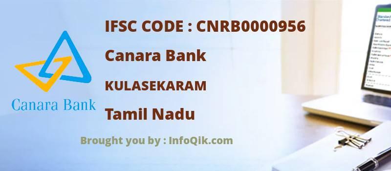 Canara Bank Kulasekaram, Tamil Nadu - IFSC Code
