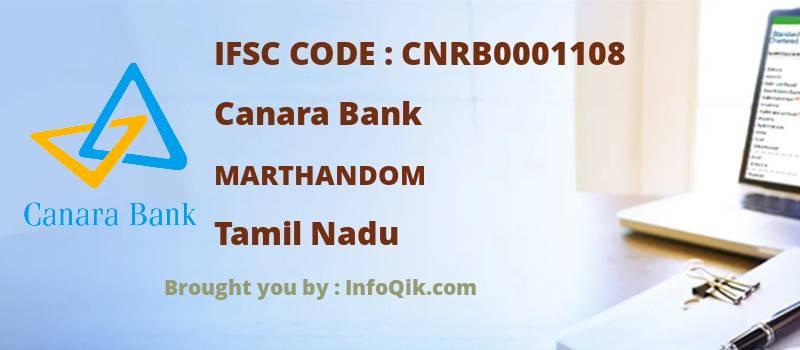 Canara Bank Marthandom, Tamil Nadu - IFSC Code