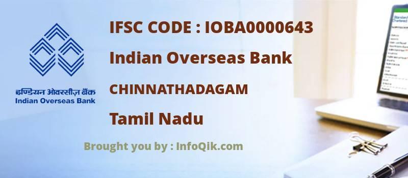 Indian Overseas Bank Chinnathadagam, Tamil Nadu - IFSC Code