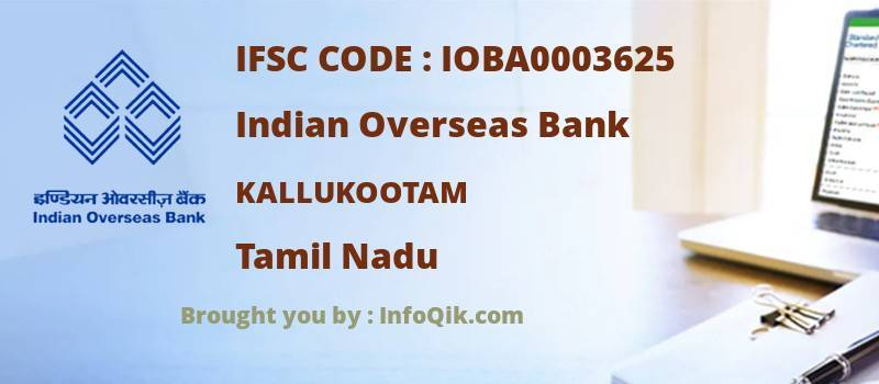 Indian Overseas Bank Kallukootam, Tamil Nadu - IFSC Code