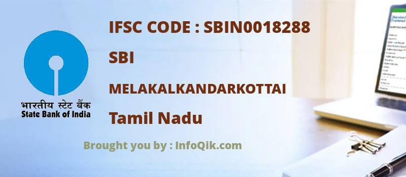 SBI Melakalkandarkottai, Tamil Nadu - IFSC Code