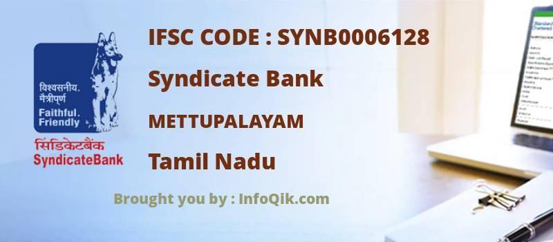 Syndicate Bank Mettupalayam, Tamil Nadu - IFSC Code