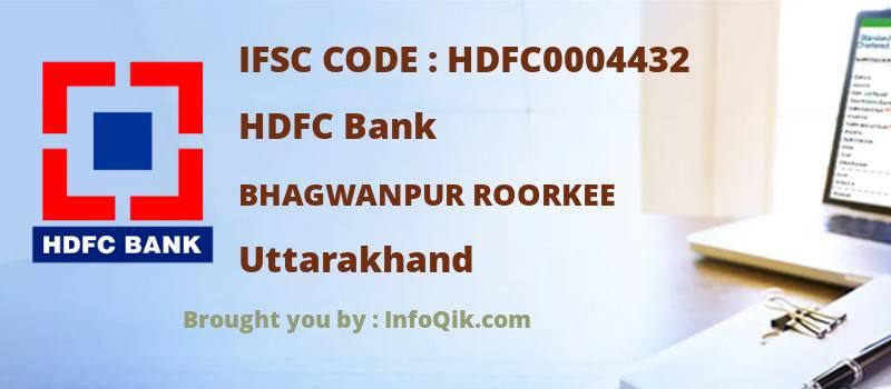 HDFC Bank Bhagwanpur Roorkee, Uttarakhand - IFSC Code