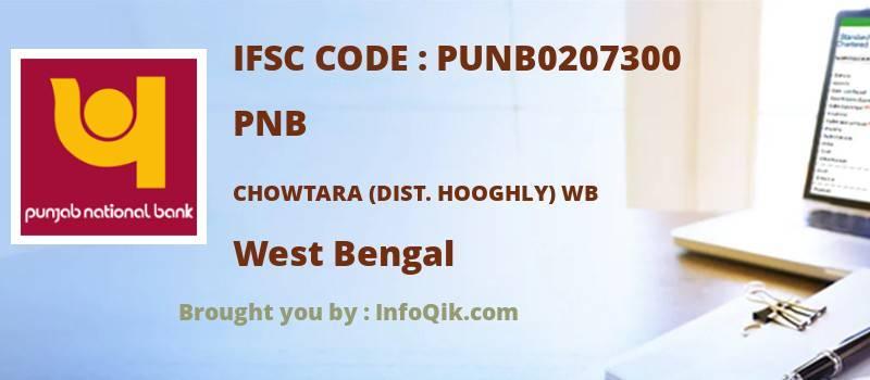 PNB Chowtara (dist. Hooghly) Wb, West Bengal - IFSC Code